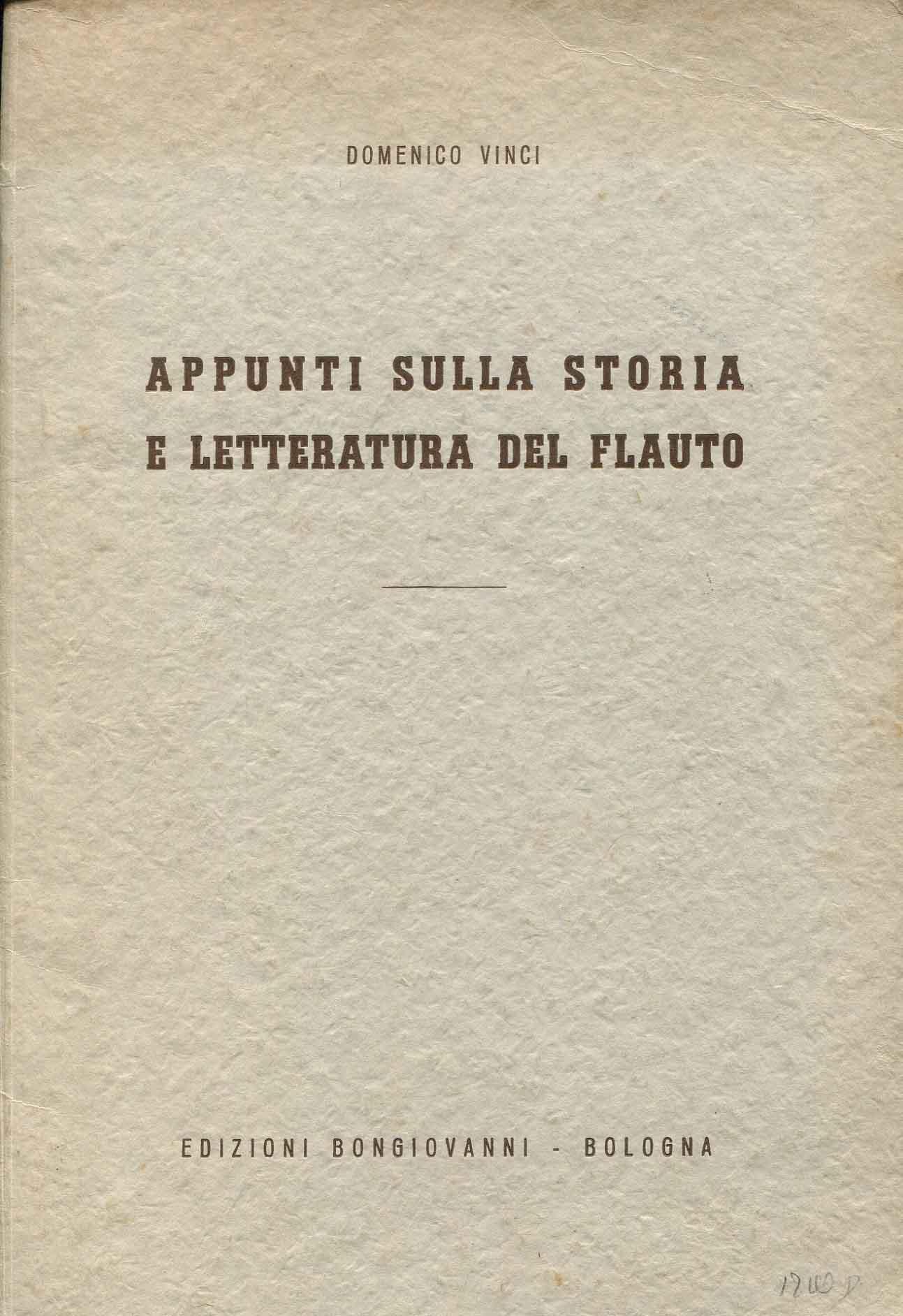 Appunti sulla storia e letteratura del flauto