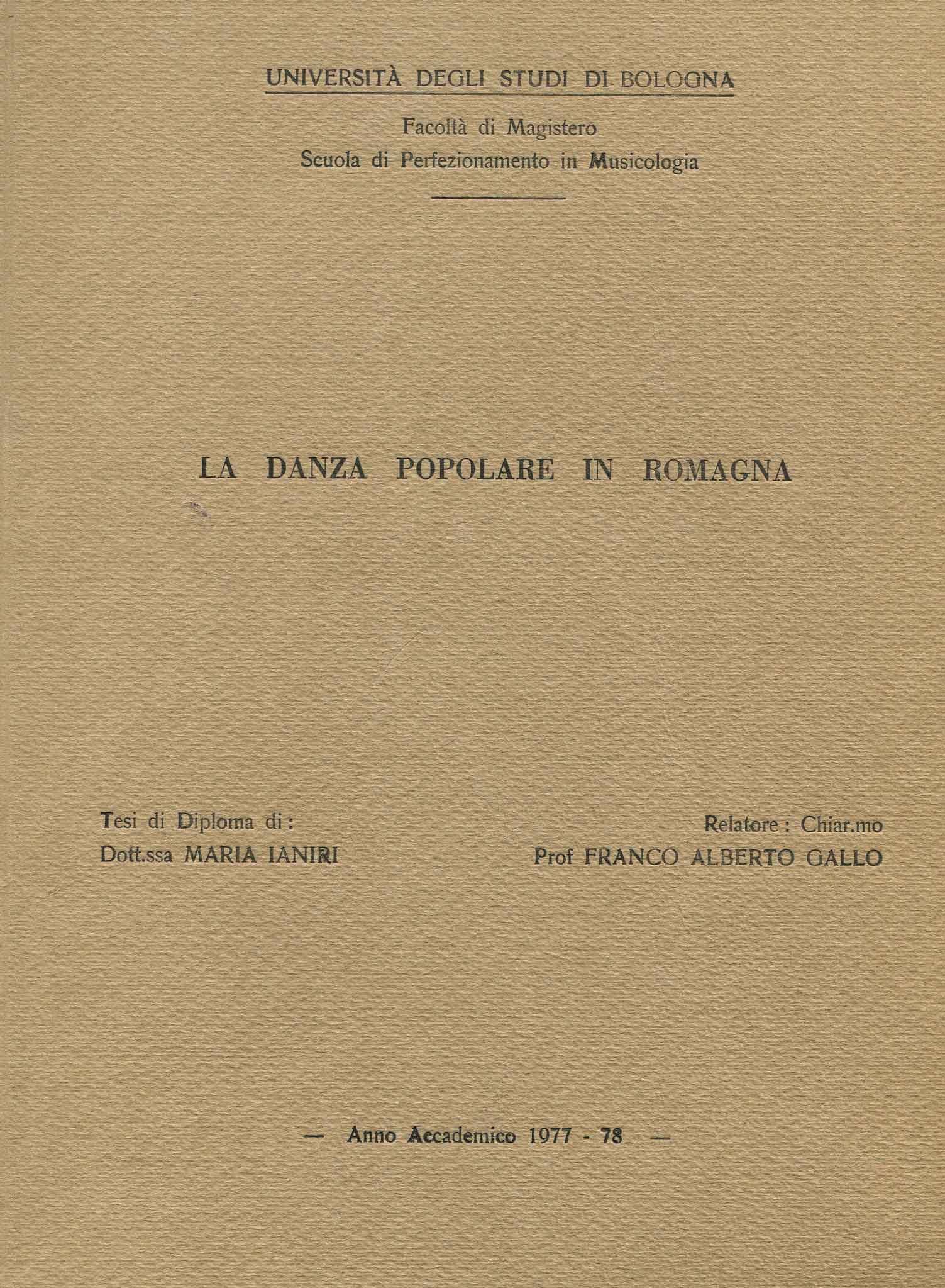 La danza popolare in Romagna