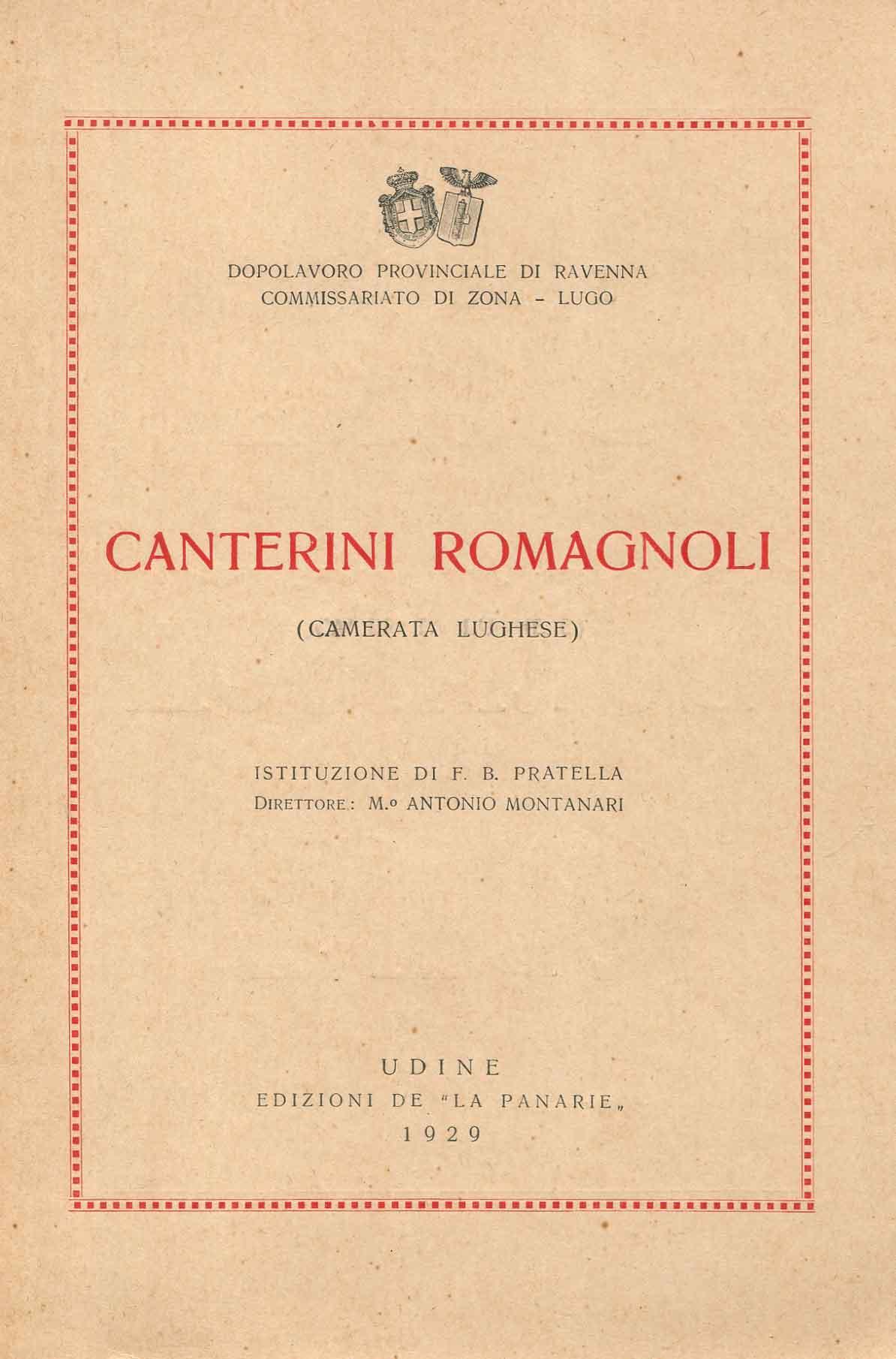 Canterini romagnoli : (camerata lughese)