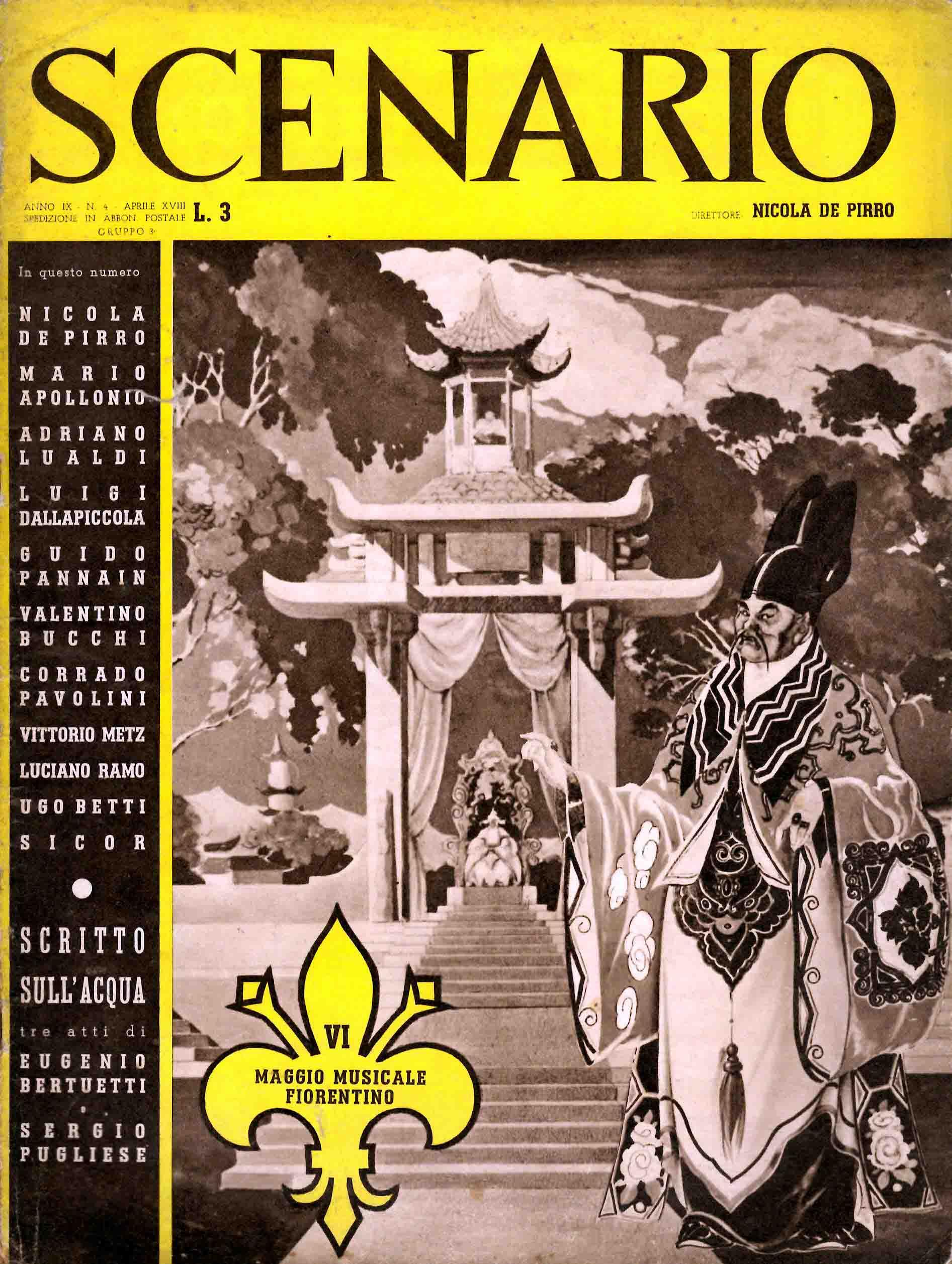 Scenario (Lo Spettacolo Italiano). Rivista mensile delle arti della scena